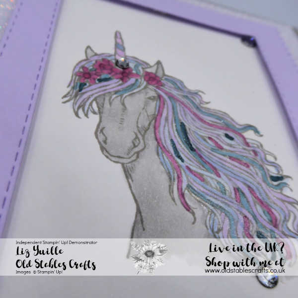 Leave a Little Sparkle Purple Posy Sparkle Glimmer Paper 2019 21 Incolors Close up