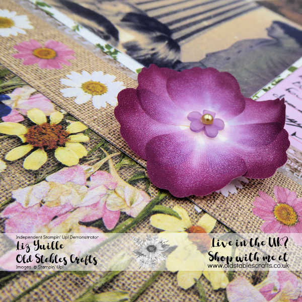 Pressed Petals Scrapbook washi tape flower