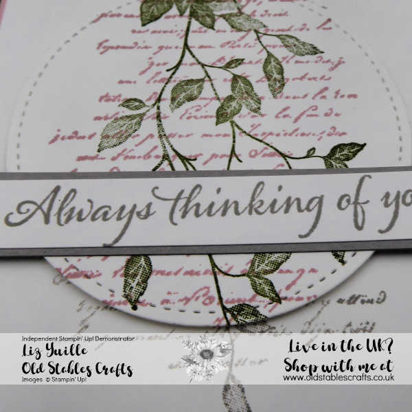 Very Varsailles mossy meadow and blushing bride spotlight card