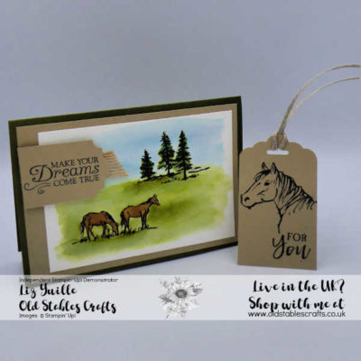 Let it Ride Meadow card and tag