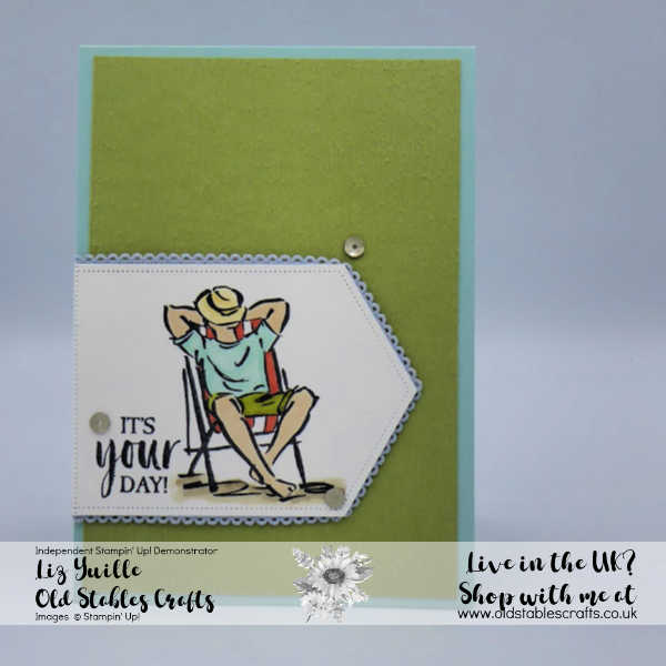 SSS A Good Man, Nested Label Dies, Ribbon, Subtle 3d Embossing, masculine birthday card