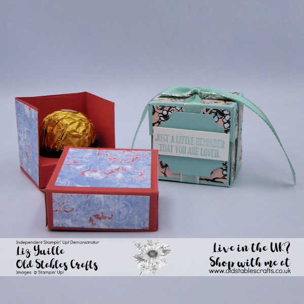 Single Ferrero Rocher Flip Box, Bird Ballad, Woven Threads, A Wish for Everything, Darling Label Punch, Blends, Ribbon, Pool Party, Terracotta Tile