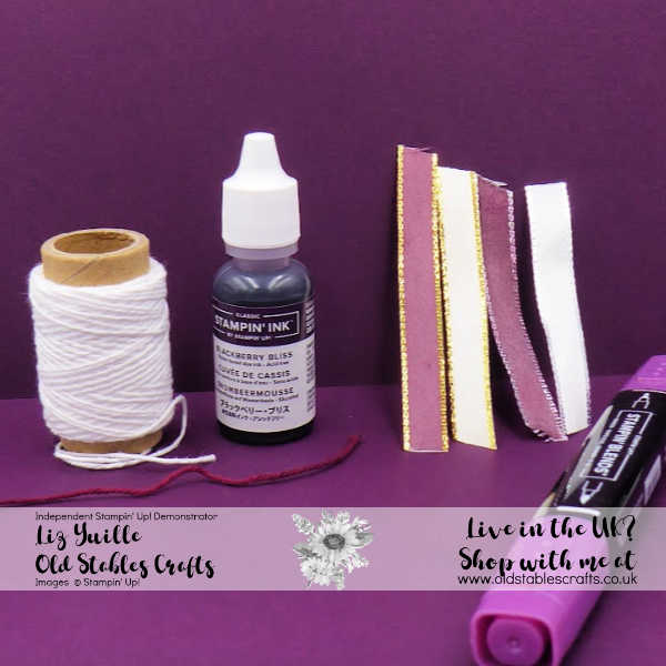 Top Tip Tuesday Any Coloured Ribbon or Twine Blackberry Bliss