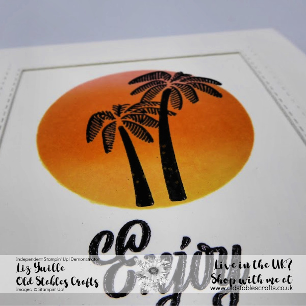 Friend Like You card silhouette palm trees in a sunset