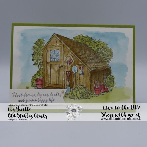 Garden Shed Easy Watercolouring