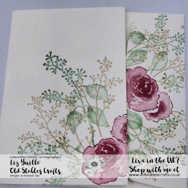 SSS First Frost Quick Simple card, Cherry Cobbler, Mint Macaron, Sahara Sand