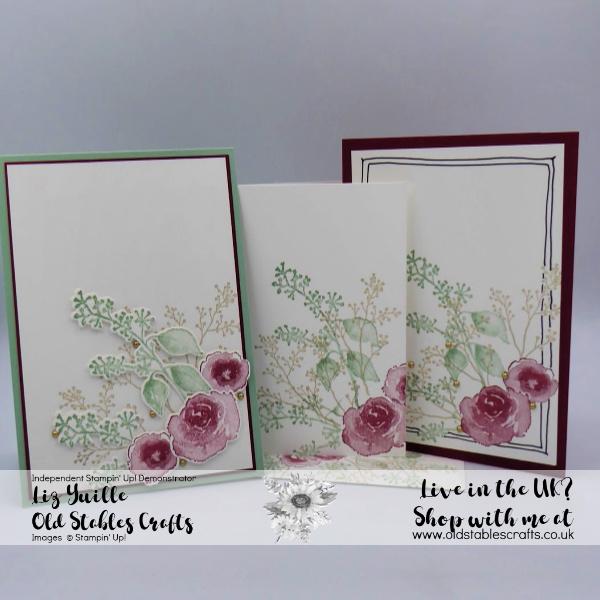 SSS First Frost All cards, Cherry Cobbler, Mint Macaron, Sahara Sand