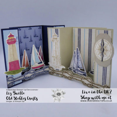 Sailing Home Bridge Card – Lots of Dimension in a flat envelope!