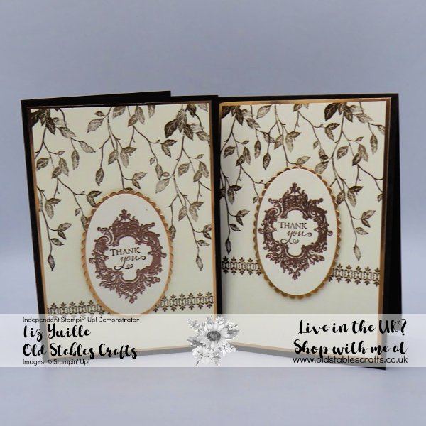 Very Versailles Opulent Card Soft Suede and Copper