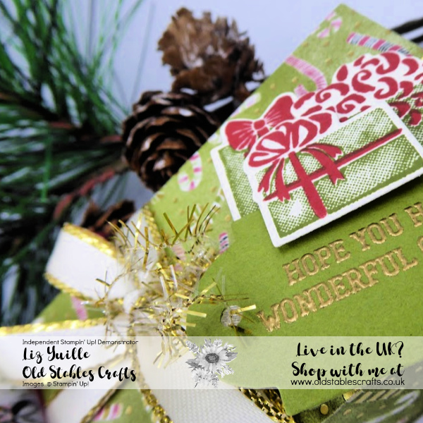 Most Wonderful Time Blog Hop Candy Cane Parcel Close up
