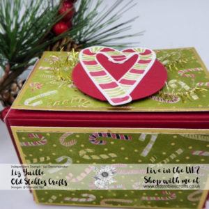 Most Wonderful Time Box Candy Cane paper and stickers