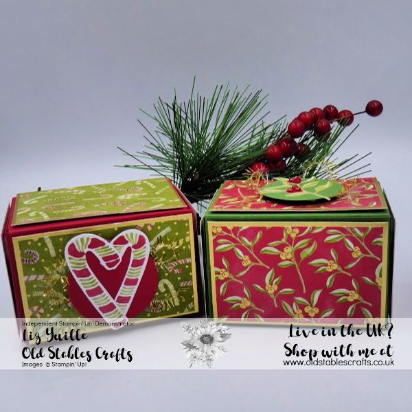 Most Wonderful Time Boxes with patterned paper and stickers