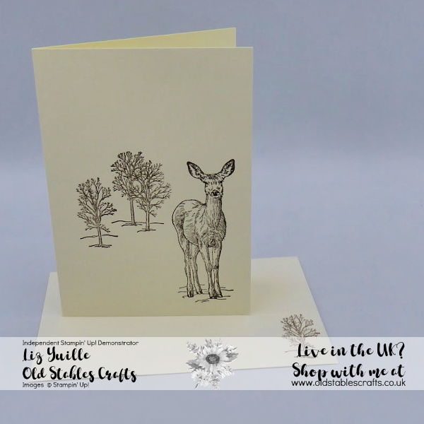 Natures Beauty Deer card in soft suede