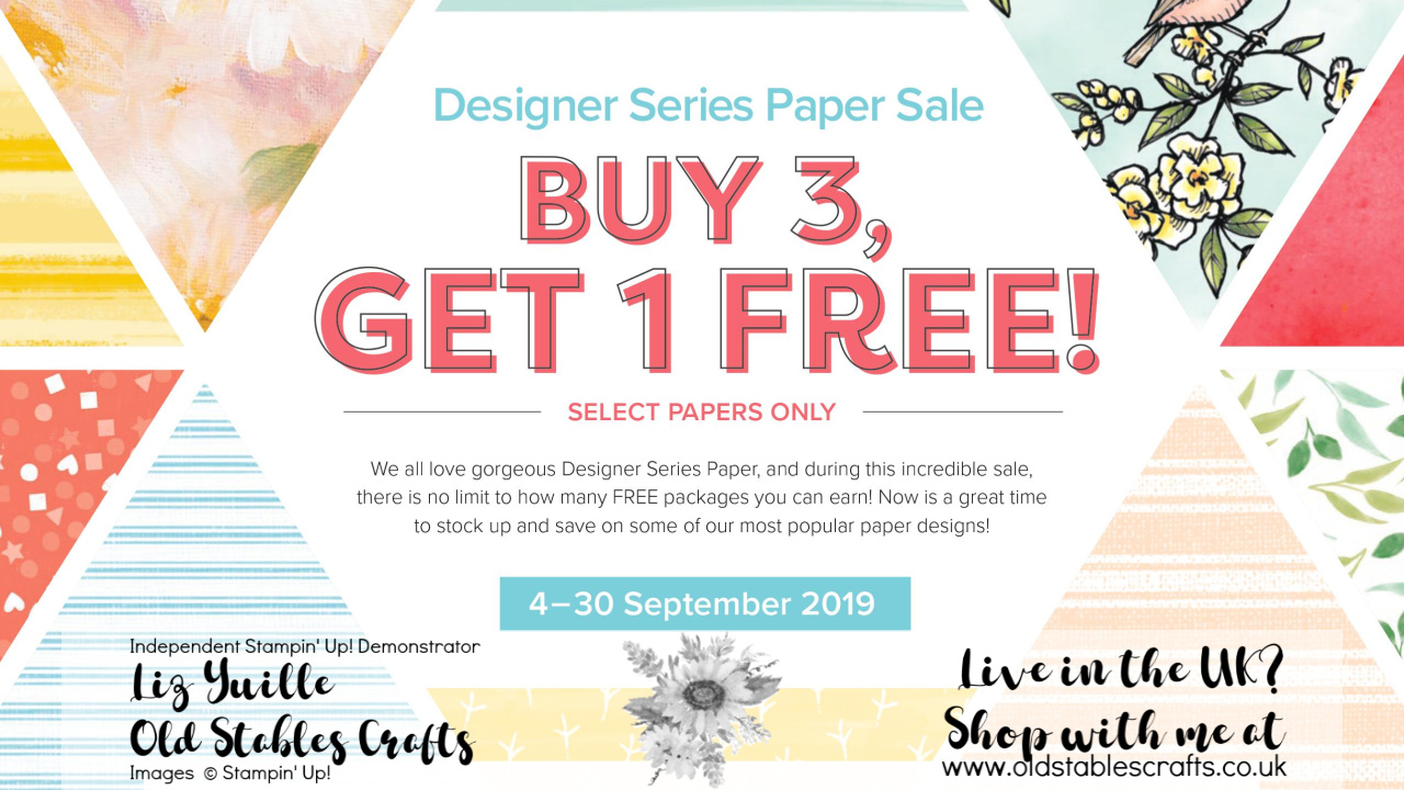 Buy 3 Designer Series Papers and get a 4th FREE
