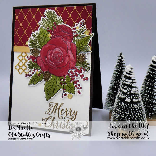 Christmas Rose card using Christmastime is here Suite