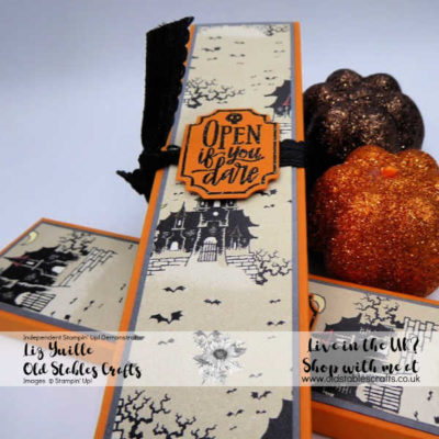 Freaky Friday Pencil Box using Monster Bash Paper and Spooktacular Bash Stamp and die Bundle
