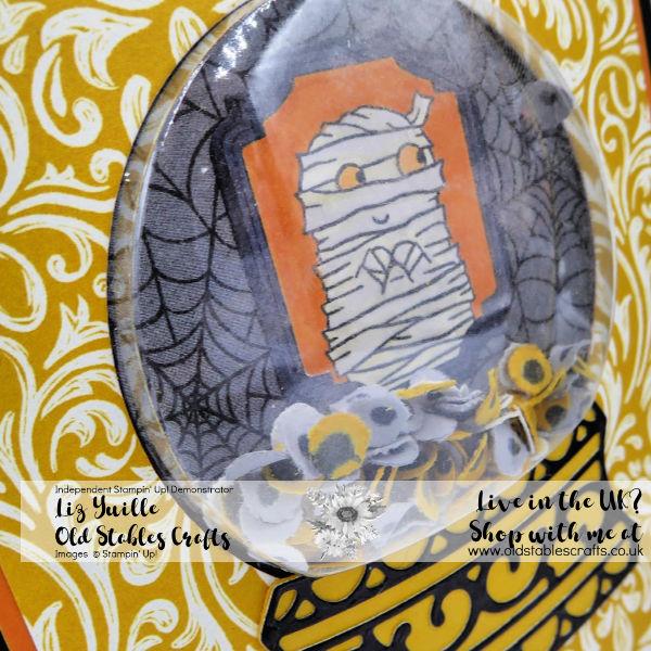 Freaky Friday Snow Globe with Eyeballs using Monster Bash Designer Series Paper