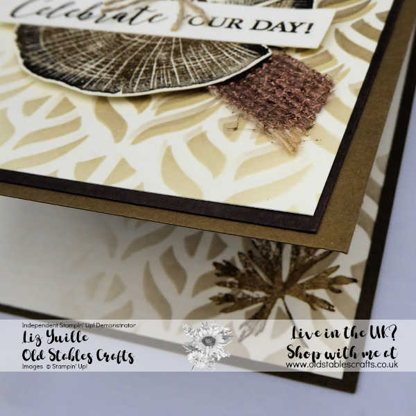 Rooted in Nature Two Tone Embossing and Mask Card for the Boys inside the card
