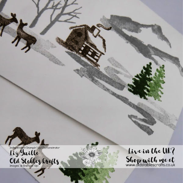 Snow Front card for a new stamper