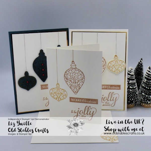 #SimpleStamping Saturday Christmas Gleaming All three projects