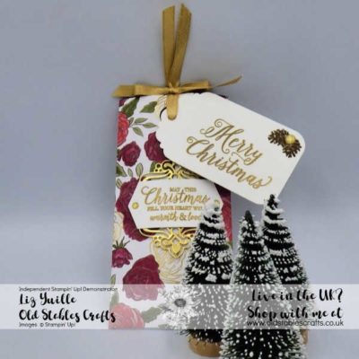 Christmas Rose Gift Pouch – Perfect for Craft Fairs