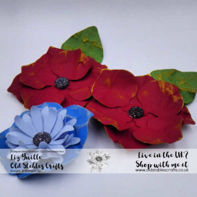 Poppy and Bleuet de France made with Gleaming Ornaments Punches
