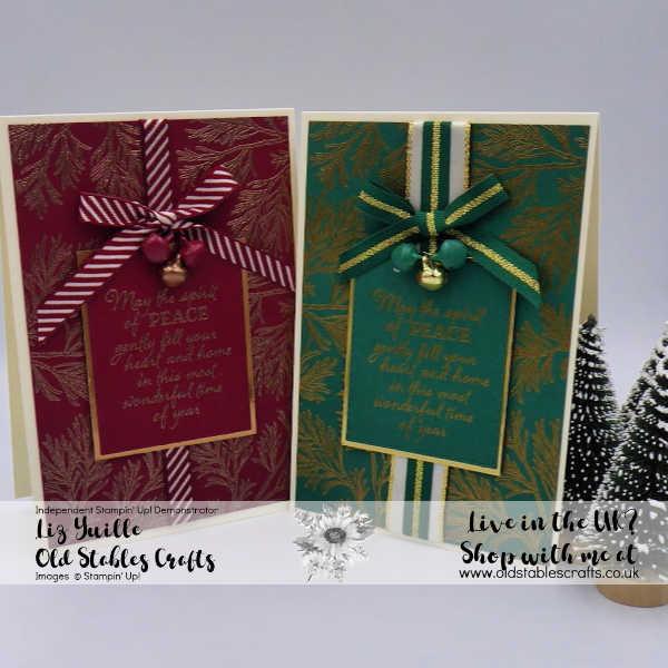 Shaded Spruce and Cherry Cobbler Peaceful Boughs Opulent Cards