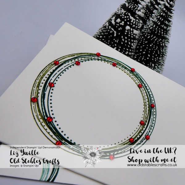 #SSS Swirly Frames Wreath Card