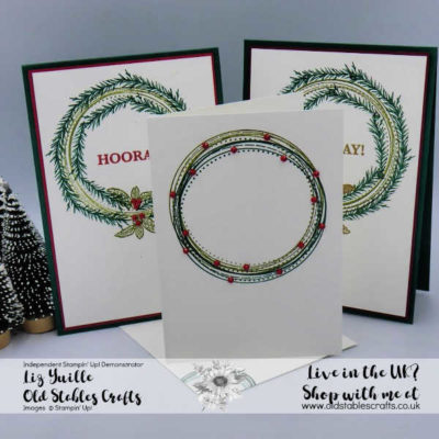 #SimpleStamping Saturday – Swirly Frames and Sip, Sip, Hooray