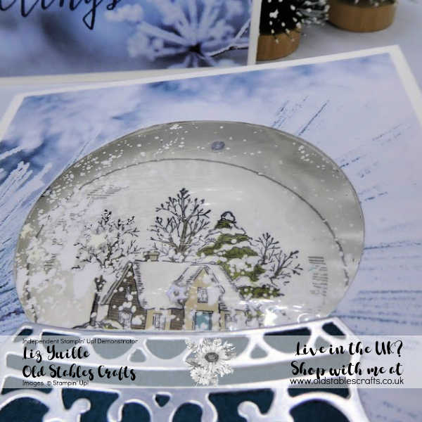 Top Tip Tuesday Laminated Shaker Card using Still Scenes Bundle Close up