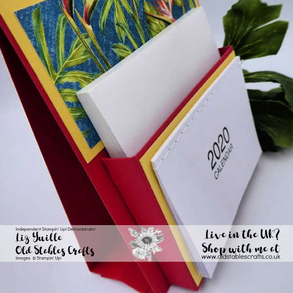 Customer Desk Calendar using Tropical Oasis Paper