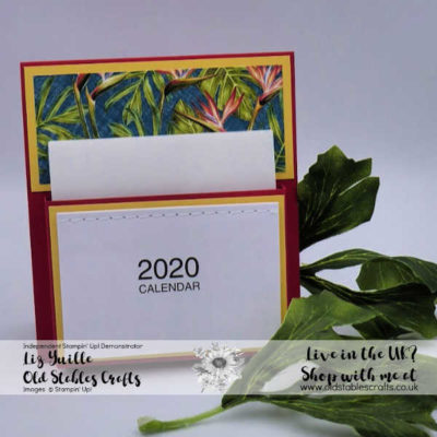 Customer Gift – Desk Calendar Tropical Oasis