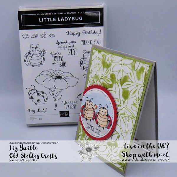Little Ladybug for Inspire Create Challenges. oldstablescrafts.co.uk Liz Yuille