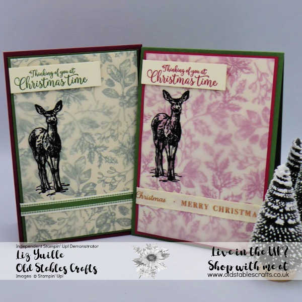 Nature's Beauty Shimmer Black Heat Embossed Card with Toile Tidings DSP