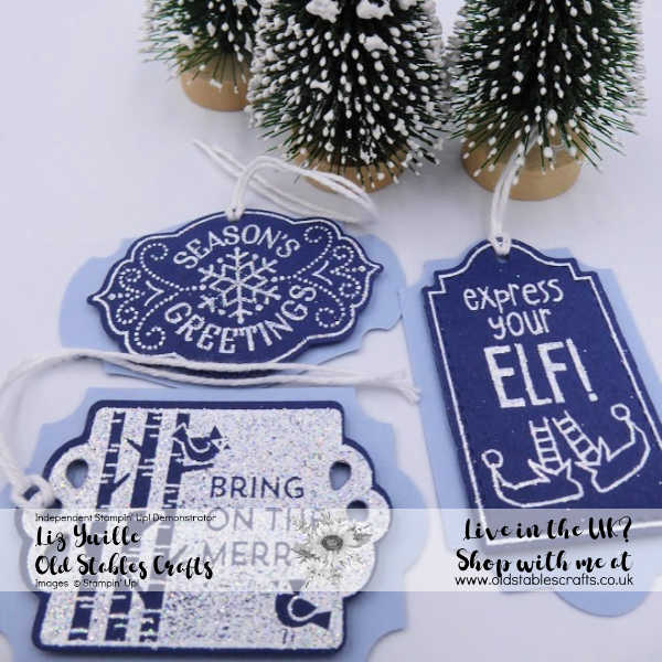 Tags Tags Tags Plus Night of Navy and Shimmer White Heat Embossing