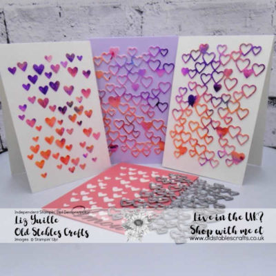 All You Need is Love – Detailed Hearts Die – Three Layered Hearts Cards from One Die Cut
