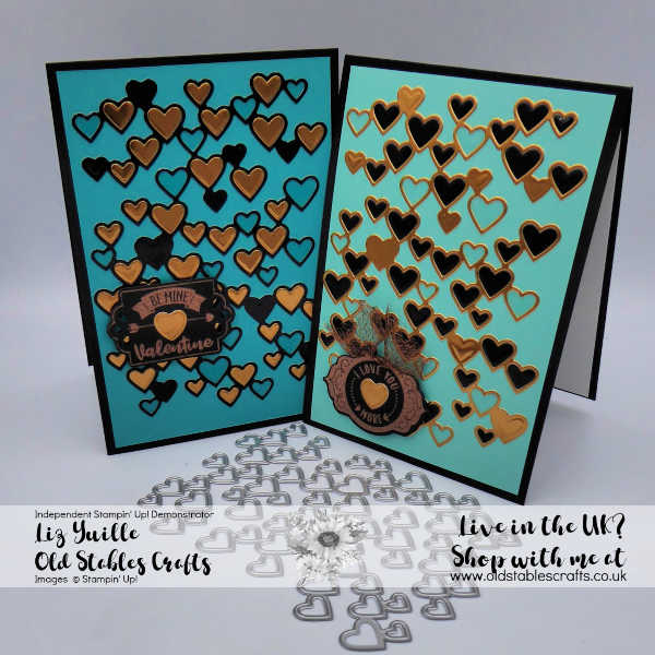 Detailed Hearts Inlaid Cards, with Tags Tags Tags, oldstablescrafts.co.uk