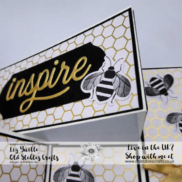 Honey Bee Promotion Concertina Card Close Up