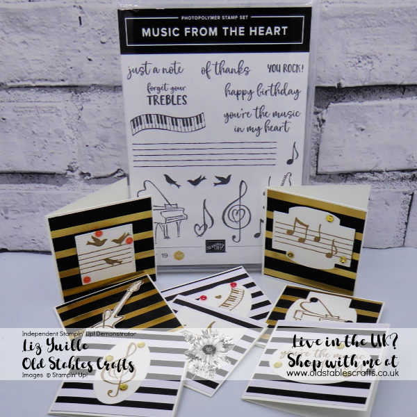 Music From My Heart Mini Cards