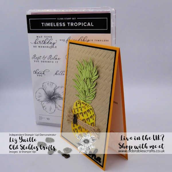 Pineapple in The Tropics Greetings Card