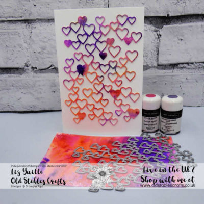 Top Tip Tuesday – Pigment Sprinkles meet Heat Embossing (with WATER!)