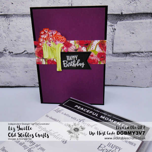 Peaceful Poppies Elements Card