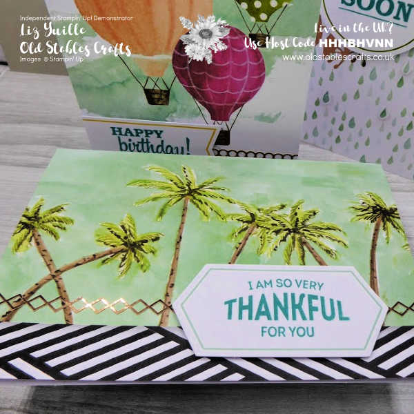 Looking Up Card Kit - Palm Trees