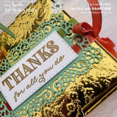 Ornate Garden Gold Mini Pizza Box