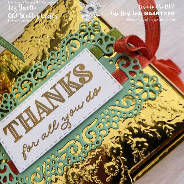 Ornate Garden Gold Mini Pizza Box OldStablesCrafts.co.uk