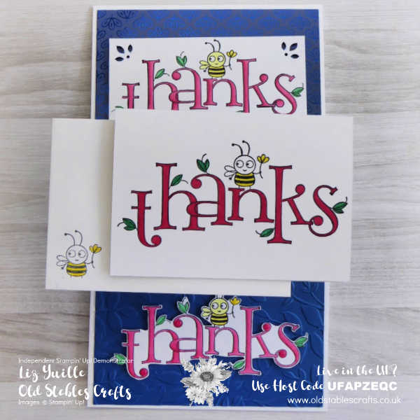 #SimpleStamping Saturday Bee Thankful OldStablesCrafts.co.uk