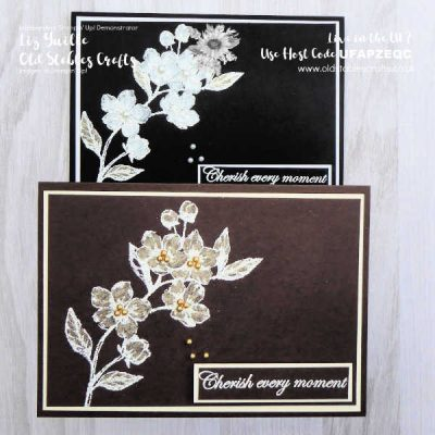 Monochrome Team Challenge Card – Forever Blossoms