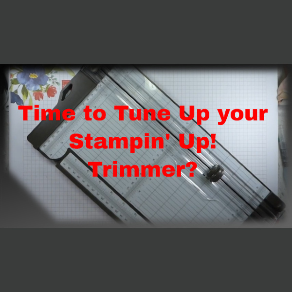 Time to Tune Up You Stampin' Up! Trimmer OldStablesCrafts.co.uk