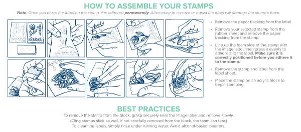 Cling Mount Stamps Instructions