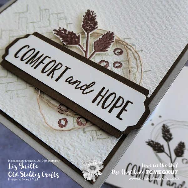 Comfort & Hope on #SimpleStamping Saturday Avid OldStablesCrafts.co.uk